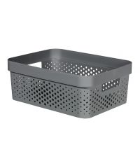 Bac de rangement recyclé gris 11L Infinity - CURVER