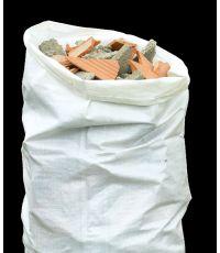 10 Sacs à gravats BATIBAG  en PE tissé Blanc 0,60x1m - CELLOPLAST