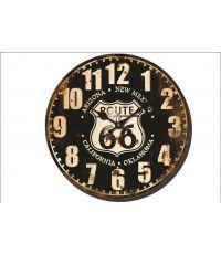 Horloge métal Route 66