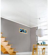 Lambris PVC murs et plafonds blanc brillant 290 x 20 x 0.8 cm