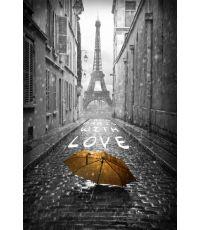Toile Paris romantique With love 30x45cm