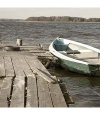 Toile barque 30x30cm