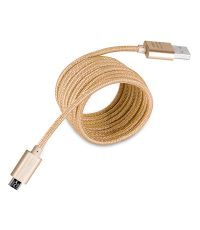 Câble micro USB doré 3m - FPE