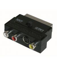 Adaptateur audio vidéo péritel mâle SVHS et 3 RCA - FPE