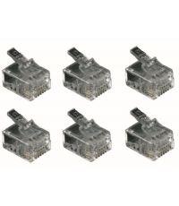 6 fiches RJ11 mâles - FPE