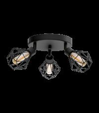 Plafonnier LED Zapata noir G9 3 X 3W - EGLO