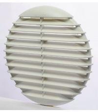 Grille plastique blanche, ronde - HBH