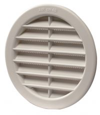 Grille ronde PVC blanc Ø 100 - HBH