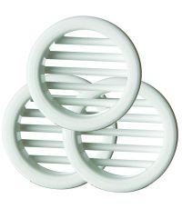 Grilles plastiques blanche, ronde - HBH