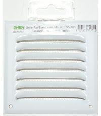 grille alu avec moustiquaire blanc 100 x 100 - HBH