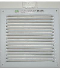 grille alu avec moustiquaire 200 x 200 blanc - HBH