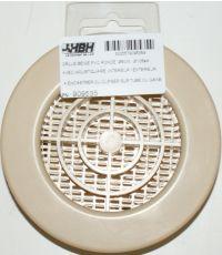 Grille moustiquaire ronde beige Ø 80 - HBH