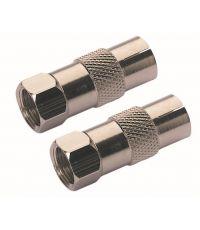 2 adaptateurs fiche F mâle/9,52mm mâle et fiche F mâle/9,52mm femelle - OPTEX