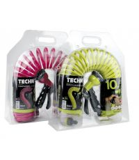Tuyau flexible torsadé Ø9mm x 10m en EVA fuchsia - TECHNO