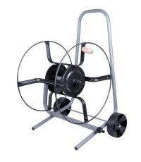 Dévidoir tuyau arrosage sur roues métal Ø20mm nu capacité 50m Ø15mm - TECHNO