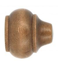 Embouts à emboîter bois classique x2 ø 35mm chêne vernis Rustique - MOBOIS