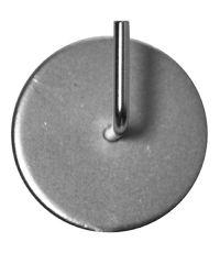 2 supports métal ronds adhésifs pour tringle Ø10 nickel mat MOBOIS