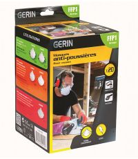 Boite 20 masques anti-poussieres FFP1 - GERIN