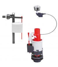 Mécanisme 3l/6l + robinet kompact - WIRQUIN