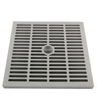 grille légère 30 x 30 cm gris polypropilène - INTERPLAST