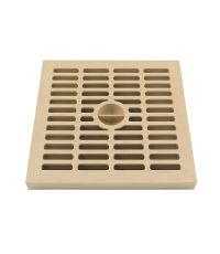 grille légère 20 x 20 cm sable polypropilène  - INTERPLAST
