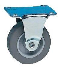 Roulette d'ameublement à platine  fixe - Charge admissible 15kg. Ø30mm - CIME