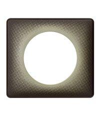 Plaque Céliane 1 poste - poudré eclipse - LEGRAND