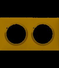 Plaque 2 postes Dooxie coloris dune - LEGRAND