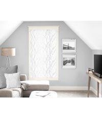 Paire de Brise bise 60x120 cm Liane blanc - SOLEIL D'OCRE