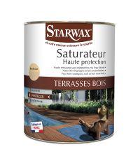 Saturateur haute protection terrasse bois incolore 1L - STARWAX