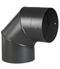 Coude 3 parties 90°  émail noir mat ø150 mm - TEN
