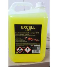 Liquide refroidissement jaune -25°C 5L - DIFRAMA