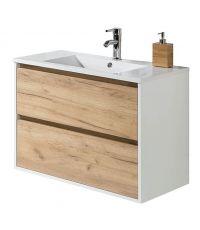 Meuble de salle de bain avec vasque Birdie. L.80 x l.46 x H.60 cm.