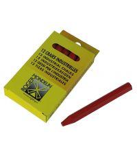 Etui 12 craies rouges - 12 cm - MOB