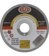 Disque à tronconer inox Ø115 - SCID