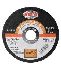 Disque à tronconer inox  Ø125 - SCID