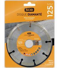 Disque polyvalent std  Ø125 segmenté - SCID