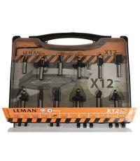 Coffret 12 mèches de défonceurse carbure q.8 - LEMAN