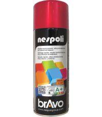 Peinture aérosol professionnelle rouge feu 400 ml - NESPOLI