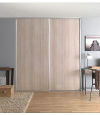 Lot de 2 portes de placard coulissantes L. 180 x H. 250 cm - OPTIMUM