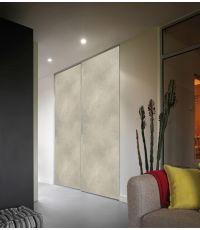 Kit de 2 portes de placard coulissantes décor bois