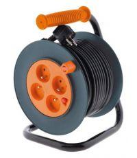 Enrouleur câble électrique HO5VV-F 4 prises 3G1mm² 25m + coupe-circuit - ZENITECH