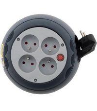 Enrouleur 4 prises HO5VV-F 3G1 + coupe circuit - 3m - ZENITECH