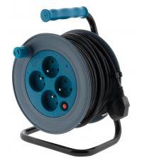 Enrouleur ménager compact 15m turquoise 3G1MM² - ZENITECH