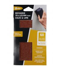 Patins corindon 70x125mm grain 60 x6 - GERLON