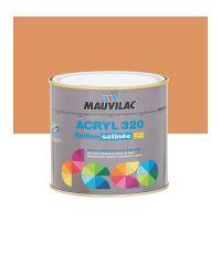 Peinture murs et plafonds Acryl 320 Satin - ocre de toscane - 0.5 L  - MAUVILAC