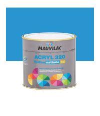 Peinture murs et plafonds Acryl 320 Satin - bleu bord de mer - 0.5 L  - MAUVILAC