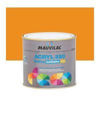 Peinture murs et plafonds Acryl 320 Satin - orange papaye - 0.5 L  - MAUVILAC
