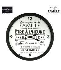 Horloge La Vie en Famille M8