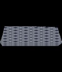 Accoudoir réversible en coton gris 58 x 10 x 20 cm